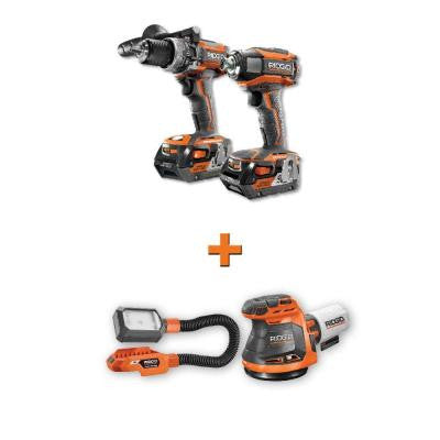 GEN5X 18-Volt Lithium-Ion Cordless Brushless Hammer Drill and Impact Driver Combo Kit with Free 2-Piece Bare Tool Kit