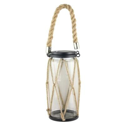 Solar Powered White LED Rope Lantern