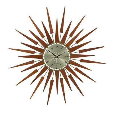 Pluto 26 in. H x 26 in. W Starburst Wall Clock