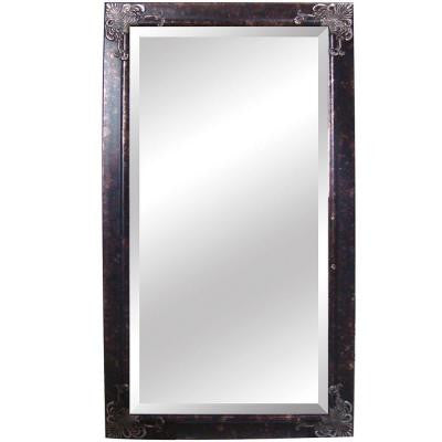 40.5 in. x 76 in. Rectangular Decorative Antique Silver Wood Framed Mirror