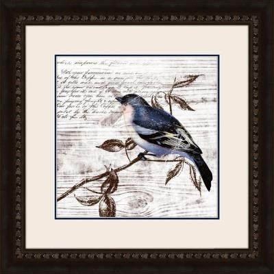 "19 in. x 19 in. ""Fluttering C"" Framed Wall Art"