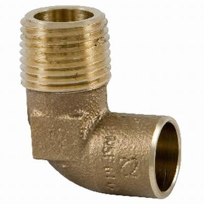 C7074-LF 1/2 in. Forged Bronze 90-Degree C x M Elbow