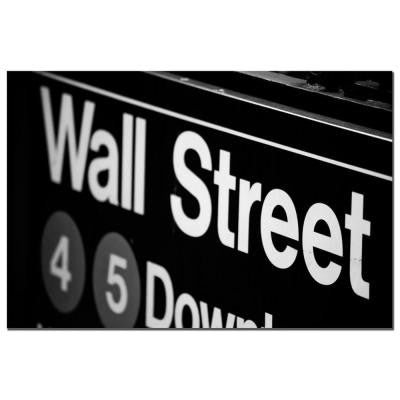 16 in. x 24 in. Wall Street Next Canvas Art