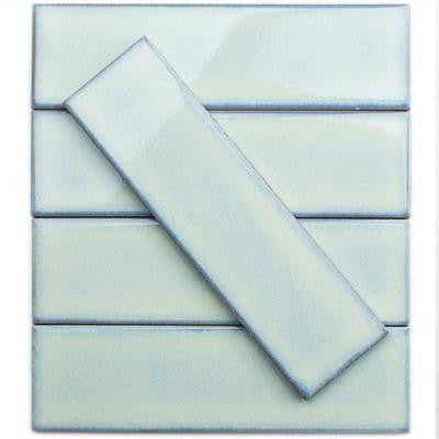 Vintage Light Blue 3 in. x 9 in. x 8 mm Ceramic Wall Mosaic Tile (5 Tiles Per Unit)