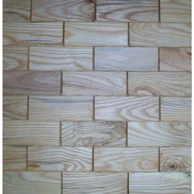 3 in. x 8 in. Prefinished Beech Wooden Wall Tile