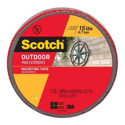 Scotch 1 in. x 12.5 yds. Indoor / Outdoor Mounting Tape (Case of 6)