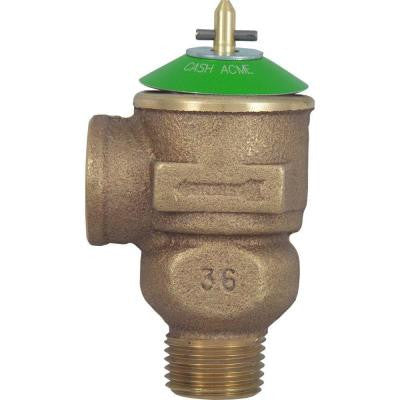 1/2 in. Brass Male Inlet x 1/2 in. Female Outlet Brass FWOL Pressure Relief Valve