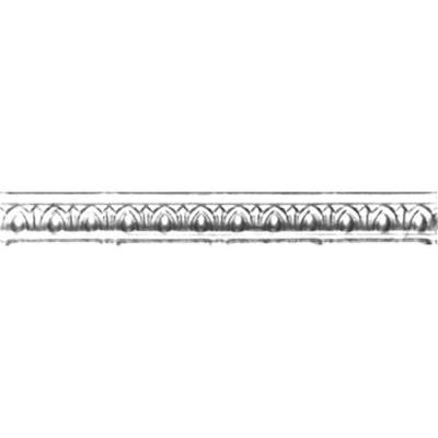 2 in. x 4 ft. x 2 in. Brite Chrome Nail-up/Direct Application Tin Ceiling Cornice (6-Pack)