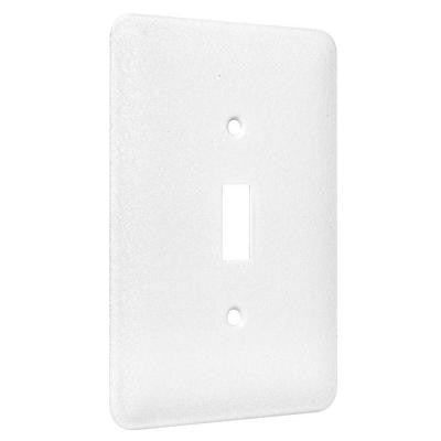 1-Gang Toggle Maxi Metal Wall Plate - White Textured (25-Pack)