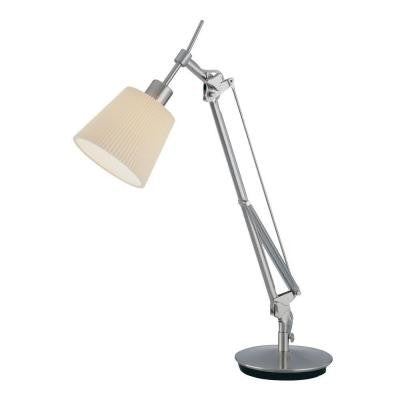 23 in. Polished Steel Table Lamp