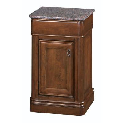 La Grange 20 in. Vanity in Glazed Sienna with Granite Vanity Top in Tan Brown