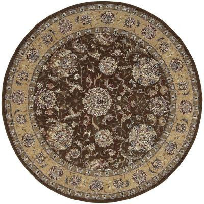 2000 Brown 6 ft. x 6 ft. Round Area Rug