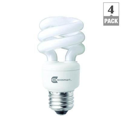 40W Equivalent Bright White Spiral CFL Light Bulb (4-Pack)