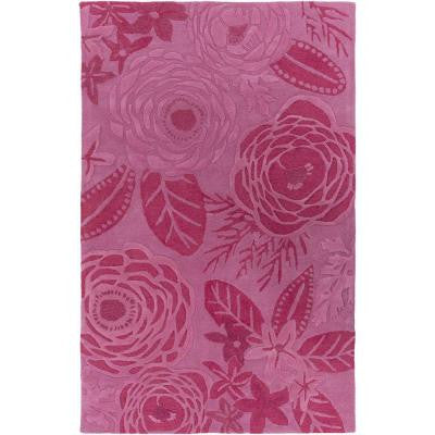 Albizia Hot Pink 2 ft. x 3 ft. Indoor Area Rug