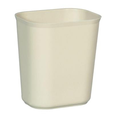 3.5 Gal. Beige Rectangular Fire-Resistant Trash Can