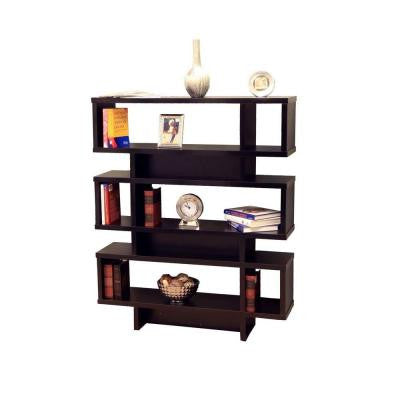 3-Tier Display Cabinet/Bookcase in Black
