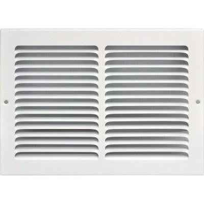 12 in. x 8 in. Return Air Vent Grille, White with Fixed Blades
