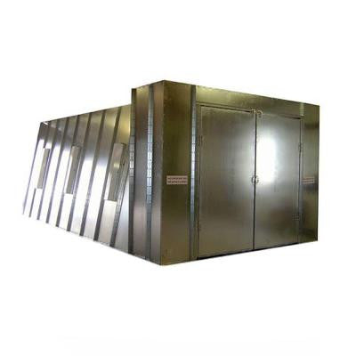 14 ft. x 10 ft. x 26 ft. Reverse Flow Crossdraft Spray Booth with Exhaust Duct and UL Control Panel in Northeast Region