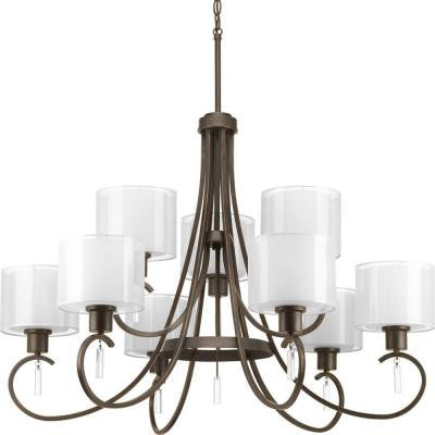 Invite Collection 9-Light Antique Bronze Chandelier