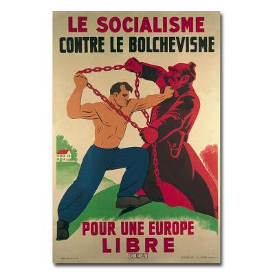 22 in. x 32 in. Socialism Against Bolshevism for a Free Europe Canvas Art