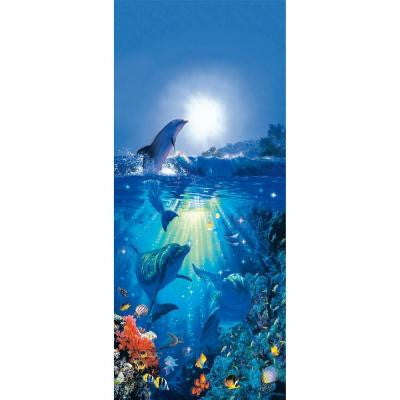 79 in. x 0.25 in. Dolphin in The Sun Wall Mural