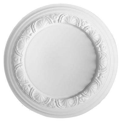European Collection 12-5/8 in. x 1-9/16 in. Floral Polyurethane Ceiling Medallion