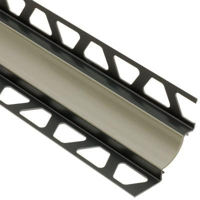 Dilex-HKW Grey 7/16 in. x 8 ft. 2-1/2 in. PVC Cove-Shaped Tile Edging Trim