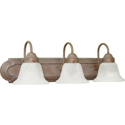 Marti 3-Light Prairie Rock Bath and Vanity Light