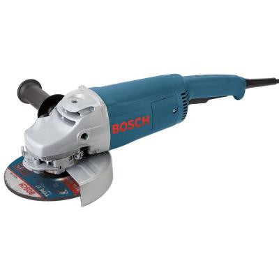 15 Amp Corded 7 in. Large Angle Grinder with Rat Tail