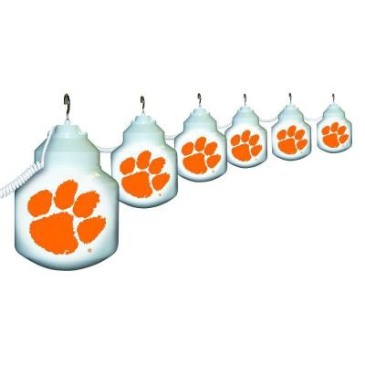 6-Light Outdoor Clemson University String Light Set