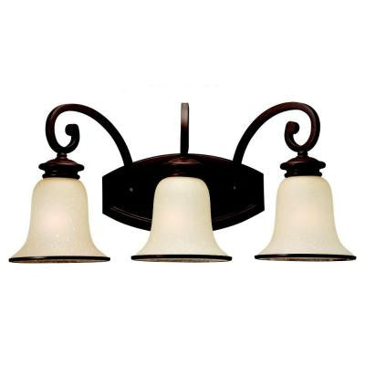 Acadia 3-Light Misted Bronze Vanity Light
