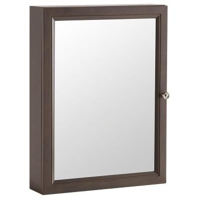 Delridge 22 in. x 29.5 in. Surface-Mount Mirrored Medicine Cabinet in Flagstone