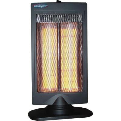 800-Watt Halogen Flat Panel Reflective Portable Electric Heater