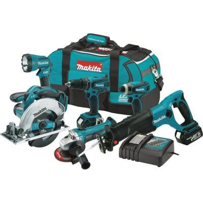 18-Volt LXT Lithium-Ion Cordless Combo Kit (6-Piece)