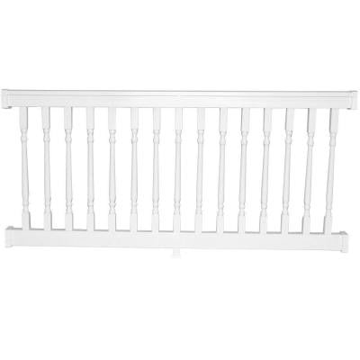 Delray 36 in. x 96 in. Vinyl White Colonial Straight Railing Kit