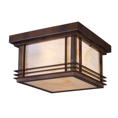 Blackwell 2-Light Hazelnut Bronze Outdoor Flush Mount