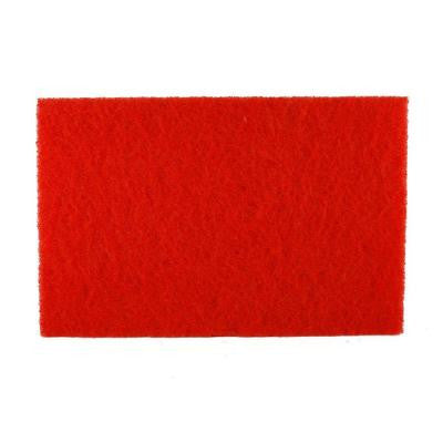 12 in. x 18 in. Non-Woven Red Buffer Pad (5-Pack)