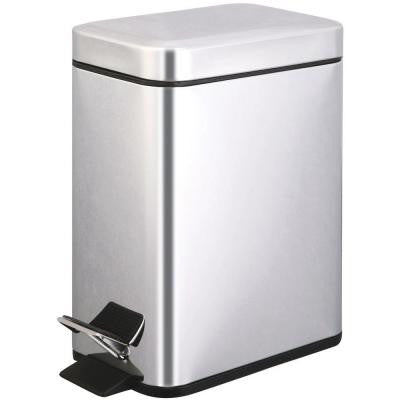 5 liter Polished Stainless Steel Touchless Step-On Trash Can