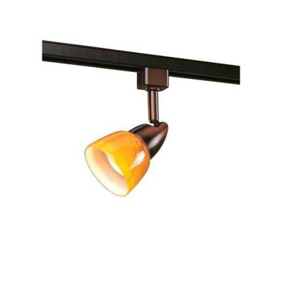 1-Light Oil-Rubbed Bronze Linear Track-Lighting Fixture