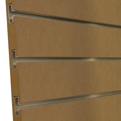 3/4 in. x 4 ft. x 8 ft. 3 in. OC Paint Grade Slatwall with Aluminum Inserts, Plus 3 Inserts (5-Pack)