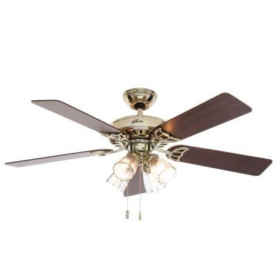 Studio Series 52 in. Bright Brass Ceiling Fan