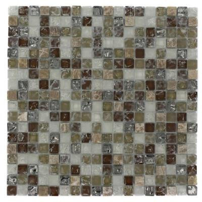 Helter Skelter 12 in. x 12 in. x 8 mm Mixed Materials Mosaic Floor and Wall Tile