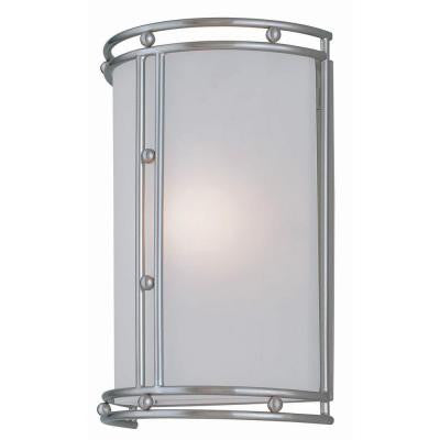Designer 1-Light Polished Steel Sconce