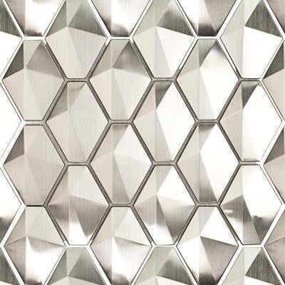 Corrie Sierra Polished Stainless Metal Tile - 3 in. x 6 in. Tile Sample