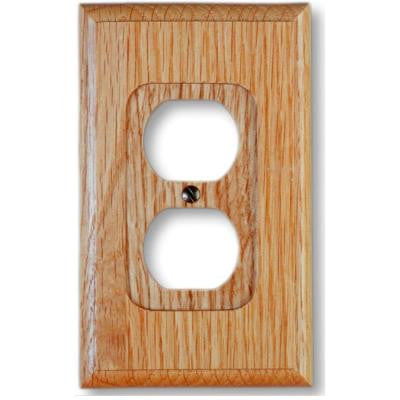 1 Duplex Wall Plate - Light Oak
