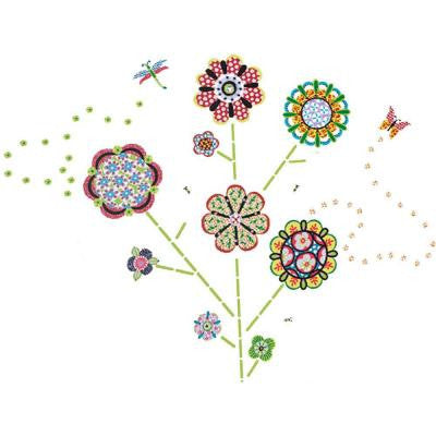 17.5 in. x 39 in. Flower Power Wall Decal