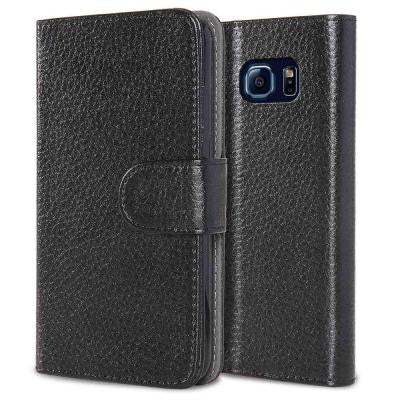 Leatherbook Wallet Case for Samsung Galaxy S6 - Black