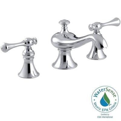 Revival 8 in. Widespread 2-Handle Low-Arc Bathroom Faucet in Polished Chrome