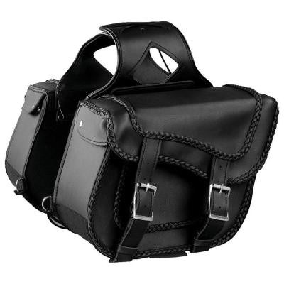 Removable Zip Off Motorcycle Studded Saddlebag