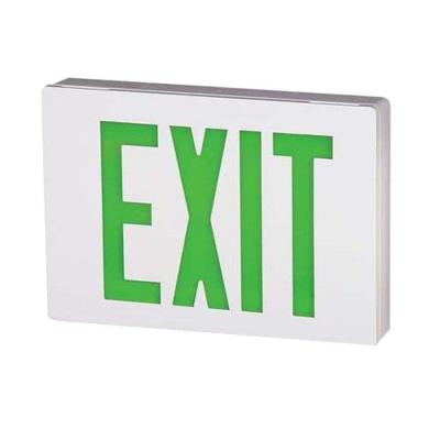 Double Stencil Face Die-Cast Aluminum LED White Nickel-Cadmium Battery Emergency Exit Sign Green
